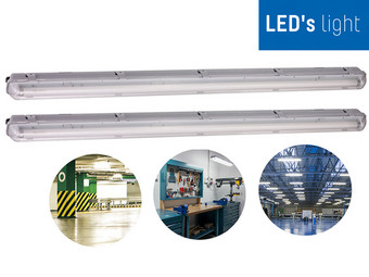 2x LED's Light LED Armatuur met LED Buis | 18 W, IP65