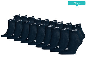 9x HEAD Basic Quartersocken
