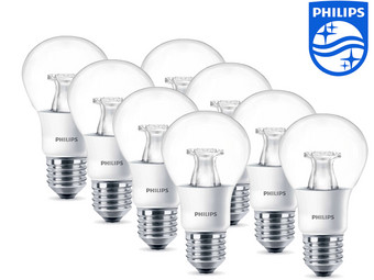 8 Philips Warmglow LED Lampen | E27