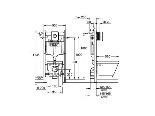 Fabulous Inbouw Wc Afmetingen QD45