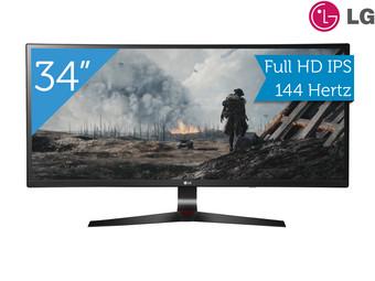 "LG 34"" FHD Ultrabrede Curved IPS Monitor"