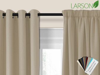 Larson Blackout Gordijn | Haak- of Ringbevestiging | 150 x 250 cm