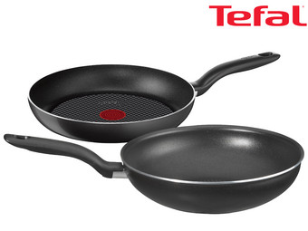 tefal hard titanium pfannen set bratpfanne 24 und wok 28 cm internet 39 s best online offer. Black Bedroom Furniture Sets. Home Design Ideas