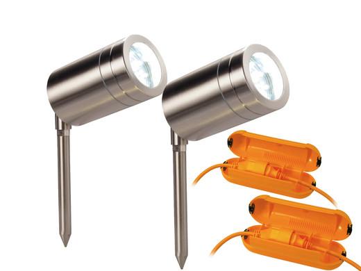 Led Spot Garten ~ Duo pack prolight led garten spots 4 5 w ip44 safe box