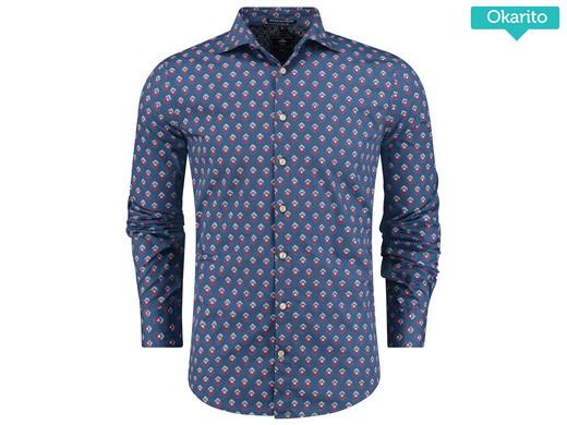 NZA Overhemd Steel Blue S