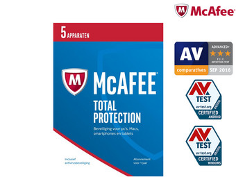 McAfee Total Protection 2017 | 5 Geräte | 1 Jahr