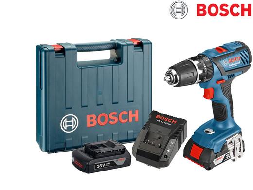 Brandneu Bosch GSB 18-2-LI Plus Professional Akku-Schlagbohrschrauber mit 2  XF15