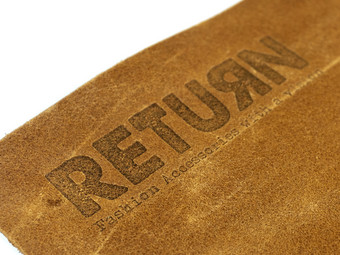 Return 100% Leren BBQ Schort