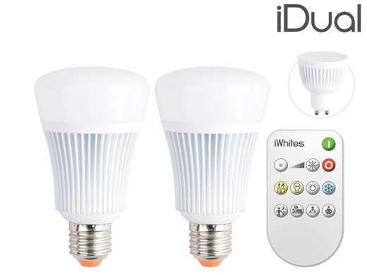 2x iDual iWhites LED Lamp met Afstandsbediening - Internet\'s Best ...