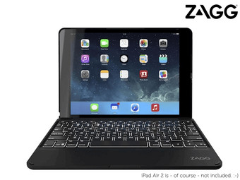 Zagg Keys Folio met Backlight | QWERTY