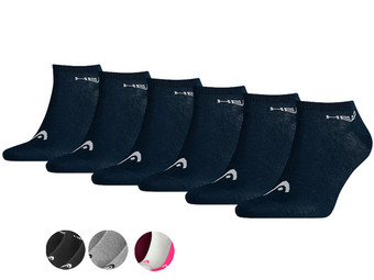 6x HEAD Basic Sneakersocken