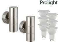 2x Prolight Buitenlamp + 6 LED-Spots
