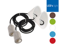 2x LED's Light Leuchtenkabel | E27