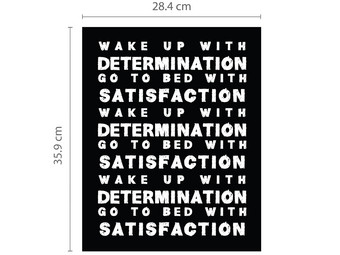 "Wandtattoo ""Determination"""