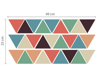Muursticker Triangles