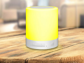Blue Beat Touch LED Lamp & Speaker