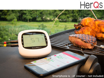 Herqs EasyBBQ Pro Slimme BBQ-Thermometer
