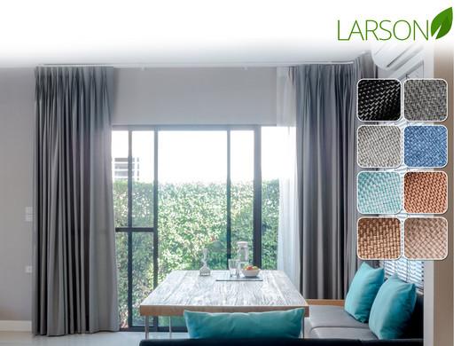 Larson Blackout Gordijnen 300 x 250 | Haak- of Ringbevestiging ...