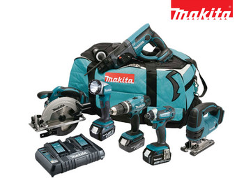 Makita Powertoolset 18 V Li-Ion met 3x 5.0 Ah Accu