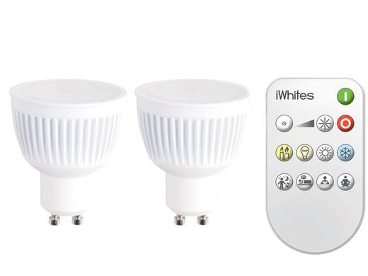 2x iDual iWhites LED-Leuchtmittel mit Fernbedienung - Internet\'s ...
