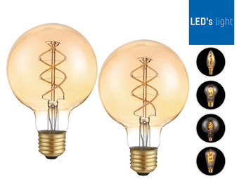 LED's Light LED-Leuchtmittel | dimmbar | 2x E27 oder 4x E14