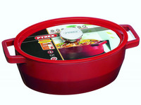 Pyrex Slowcook - Ovaal 29CM - Rood - 3,8 Liter