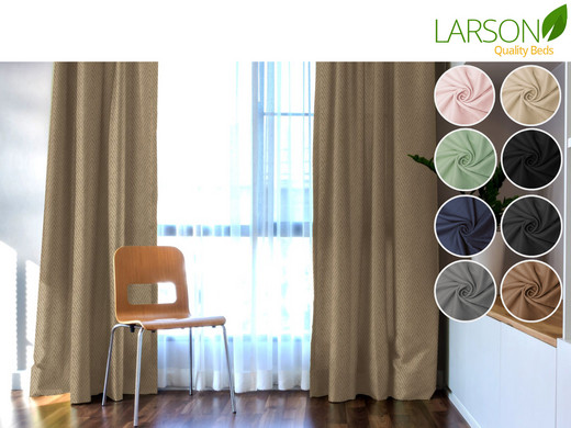 Larson Striped Blackout Curtain | Hook or Ring Attachment |300 x 250 ...