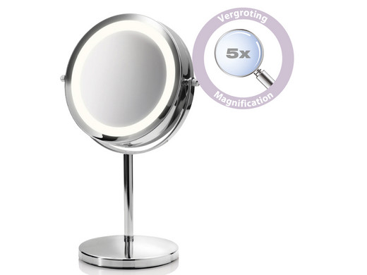 Spiegel Met Zuignap : Make up spiegel premium led makeup spiegel rvs with make up