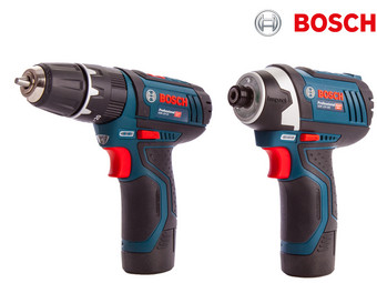 Bosch Blue 12V Impact Driver + Combi Drill | 2x 2.0ah Li-Ion in Box