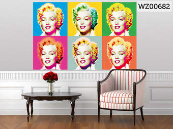 walplus wandtattoo marilyn monroe internet 39 s best online offer daily. Black Bedroom Furniture Sets. Home Design Ideas