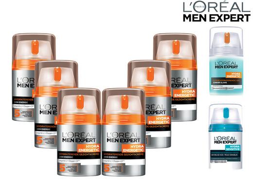 6x L'Oréal Paris Hautpflege für Männer