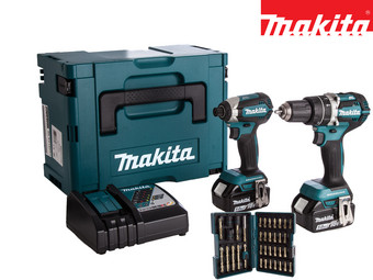 Makita 18 V Powertools met Bitset