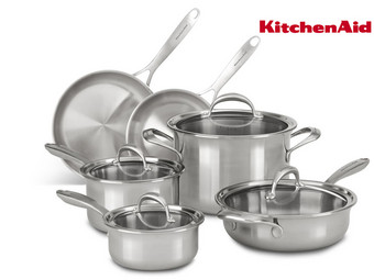 Kitchenaid KC2CS10ST Topf-Set | 10-teilig