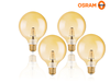 4x Osram Vintage-Lampe – LED – Dimmbar