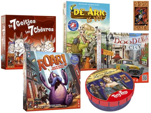 Vijf 999 Games Familiespellen