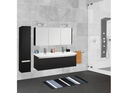 Badkamermeubel Zwart Wit : Badkamermeubel set alfa met zijkast zwart sanidream