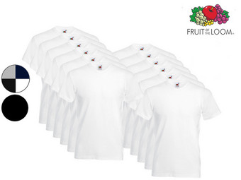 12x Fruit of the Loom Basic Shirt | Ronde of V-Hals