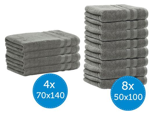 Handdoekenbundel 8x 50x100 of 4x 70x140
