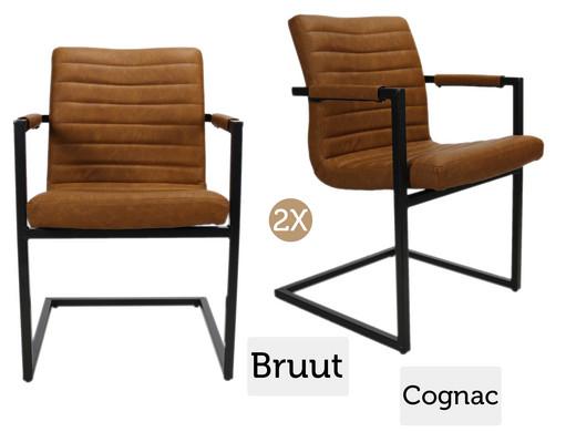 Robuuste industriele stoel 1x fauteuil of 2x for Eetkamerstoel fauteuil