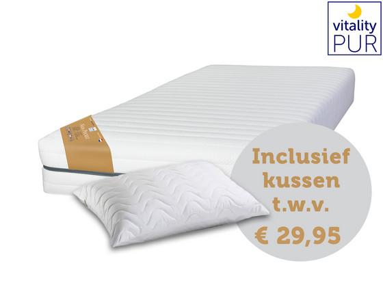 Nasa traagschuim matras|gratis hoofdkussen t.w.v.€ 29,95|90 x 200 cm