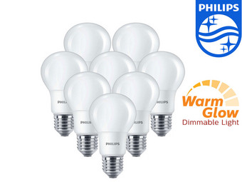 8x Philips WarmGlow Dimbare LED Lamp
