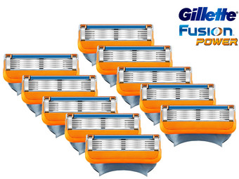 10x Gillette Fusion Power Scheermesje