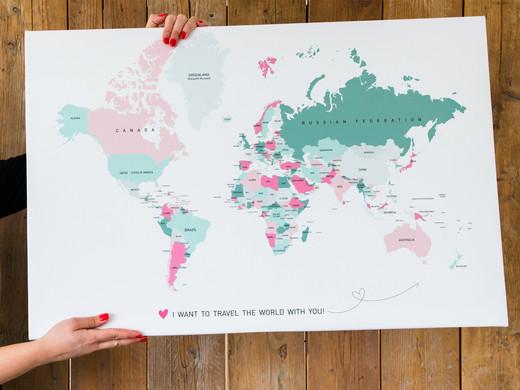 ... Gutschein: Weltkarte | Leinwand | 40 X 60 ...