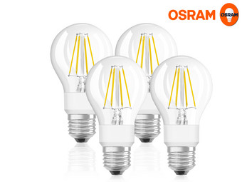 4x Osram 7 W WarmGlow LED Lamp | E27