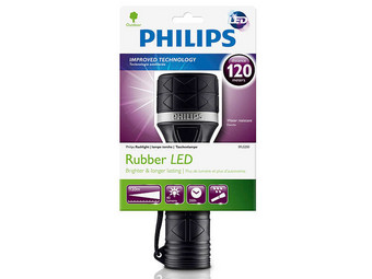 Philips LED Zaklamp met Rubberen Handgreep