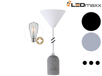 Ledmaxx Pendel + Betonfitting en LED Lamp