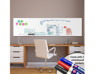 Muursticker Whiteboard | Incl. 3 Stiften