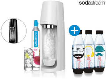 SodaStream Spirit + 3 Extra Bottles