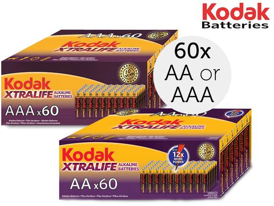 60x Kodak Alkaline Batterij