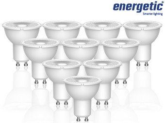 10x Energetic Lighting Dimmbarer LED-Spot | GU10 | 2.700 K | 50 W | 345 lm